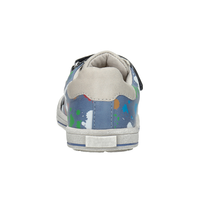 Modré tenisky s potlačou mini-b, modrá, 211-9218 - 16