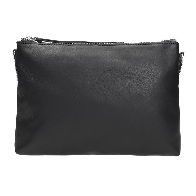 Čierna kožená Crossbody kabelka bata, čierna, 964-6292 - 26