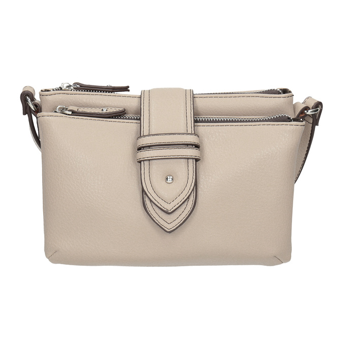 Dámska Crossbody kabelka s prackou bata, šedá, 961-2683 - 26