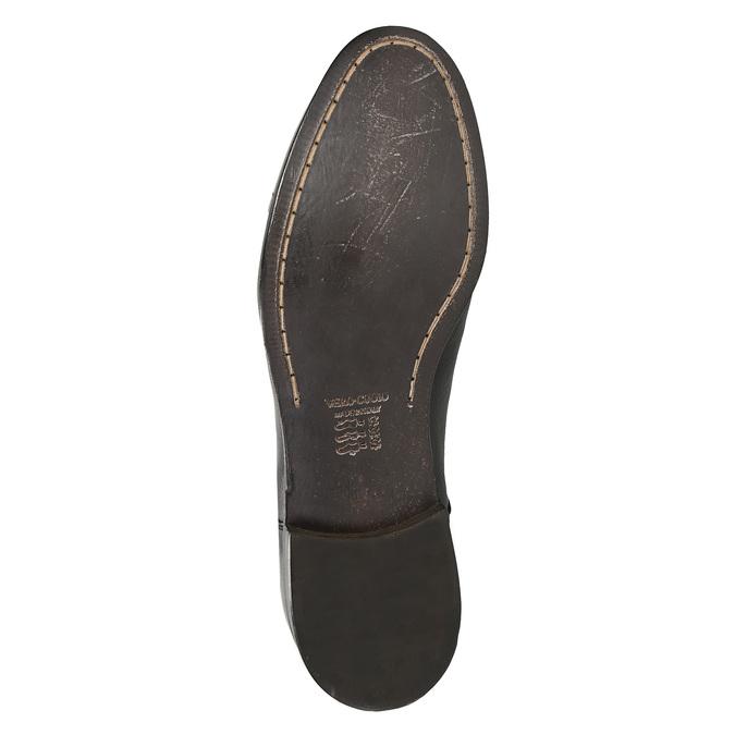 Celokožené pánske poltopánky bata, čierna, 824-6733 - 19