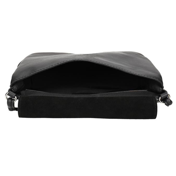 Kožená dámska Crossbody kabelka bata, čierna, 964-6291 - 15