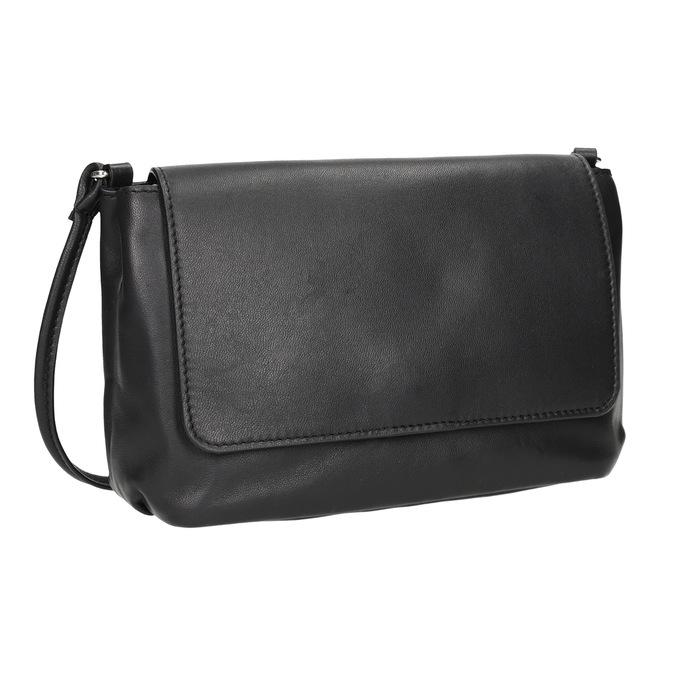 Kožená dámska Crossbody kabelka bata, čierna, 964-6291 - 13