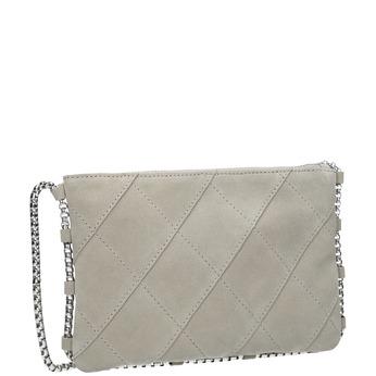 Kožená dámska Crossbody kabelka bata, šedá, 963-1193 - 13