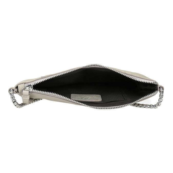 Kožená dámska Crossbody kabelka bata, biela, 963-1193 - 15