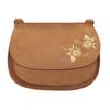 Crossbody kabelka s výšivkou bata, hnedá, 969-4686 - 26