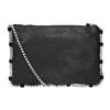 Kožená kabelka s prešívaním bata, čierna, 963-6193 - 16