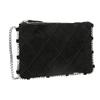 Kožená kabelka s prešívaním bata, čierna, 963-6193 - 13