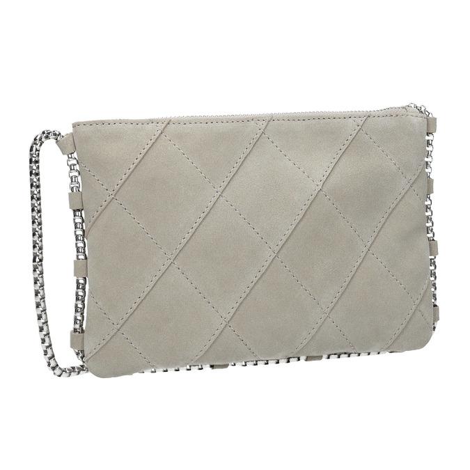 Kožená dámska Crossbody kabelka bata, biela, 963-1193 - 13