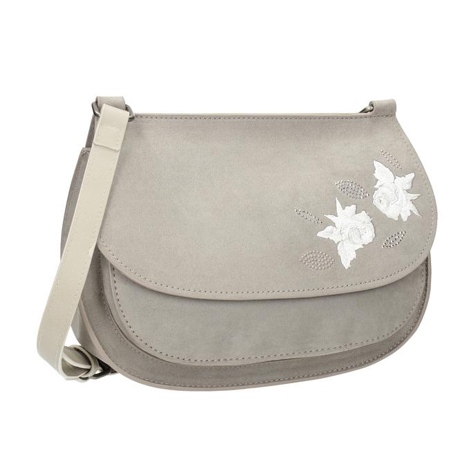 Crossbody kabelka s výšivkou bata, 969-3686 - 13