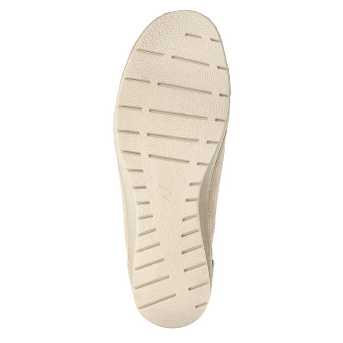 Kožené Slip-on na klinovom podpätku bata, 626-8646 - 17