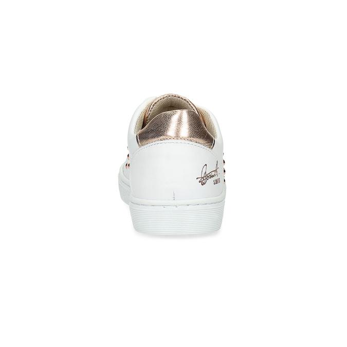 Detské kožené tenisky s cvočkami mini-b, biela, 324-1605 - 15