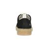 Kožené detské tenisky s cvočkami mini-b, čierna, 324-6605 - 15