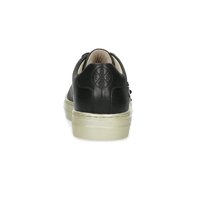 Kožené tenisky s kvetinovou aplikáciou mini-b, čierna, 324-6606 - 15