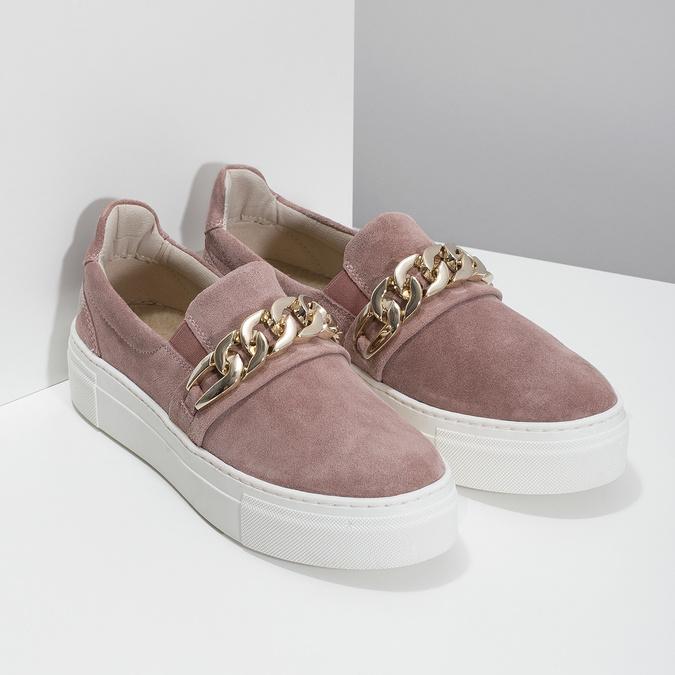 Kožená dámska Slip-on obuv bata, 513-5600 - 26