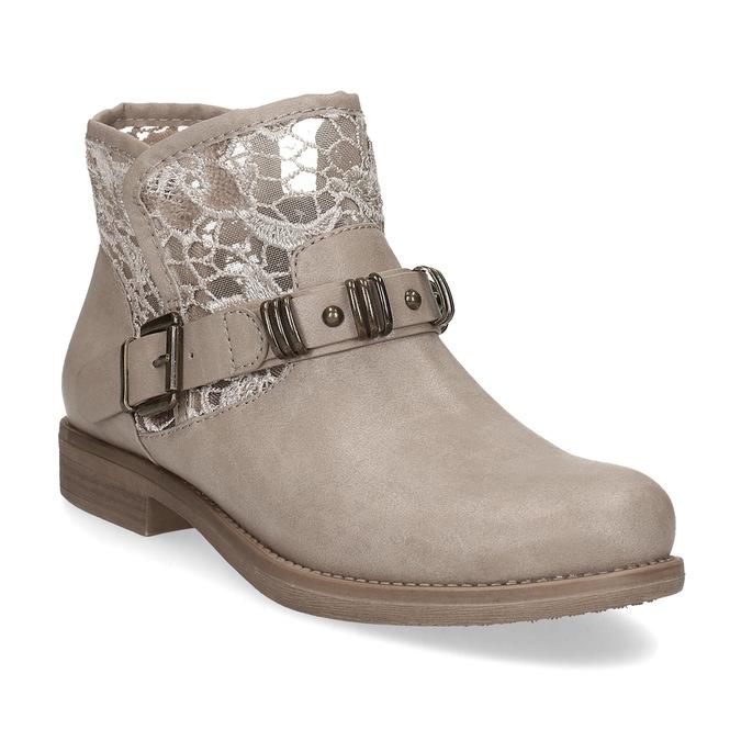 Baťa Dámska členková obuv s čipkou - Bez podpätku  c7225db913
