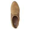 Hnedé členkové čižmy na podpätku bata, hnedá, 791-3615 - 15