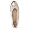 Kožené baleríny šírky G gabor, béžová, 626-8055 - 17