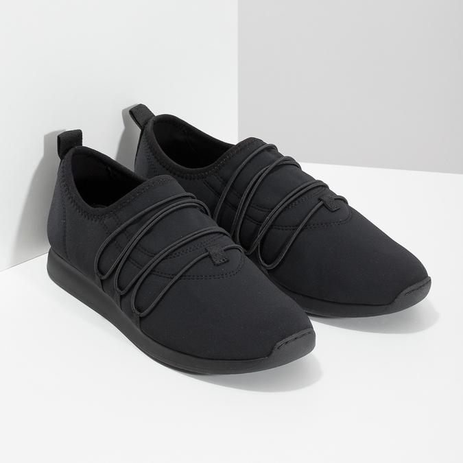 Slip-on tenisky s gumičkami vagabond, čierna, 619-6132 - 26