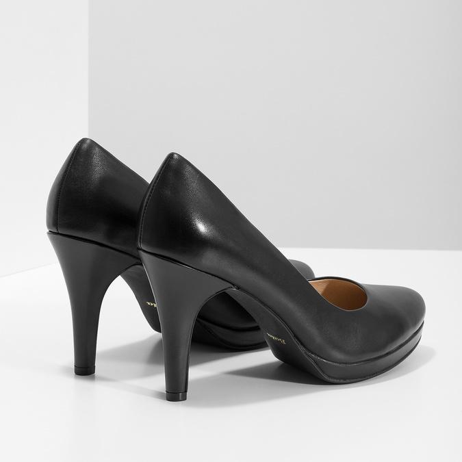 Čierne kožené lodičky insolia, čierna, 724-6104 - 16