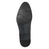 Tmavé hnedé kožené poltopánky bata, hnedá, 824-4983 - 17