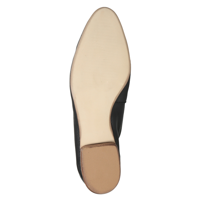Kožené dámske mokasíny s prackou bata, čierna, 516-6619 - 19
