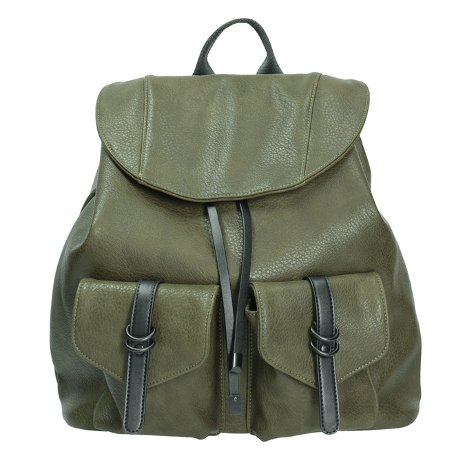 Dámsky zelený batoh bata, 961-7833 - 26