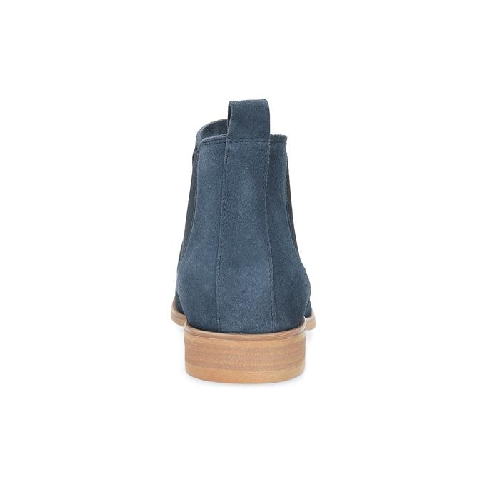 Modré kožené Chelsea čižmy bata, modrá, 593-9614 - 15
