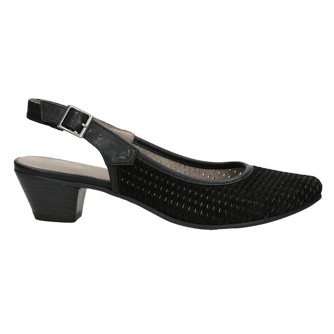 Lodičky šírky H s voľnou pätou bata, čierna, 623-6645 - 26