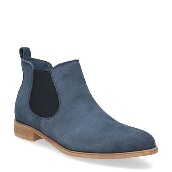 Modré kožené Chelsea čižmy bata, 593-9614 - 13