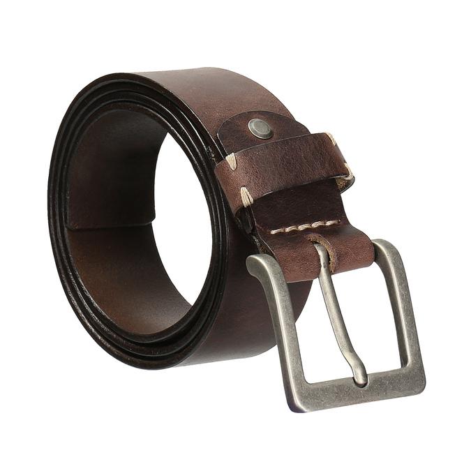 Hnedý pánsky kožený opasok bata, hnedá, 954-4205 - 13