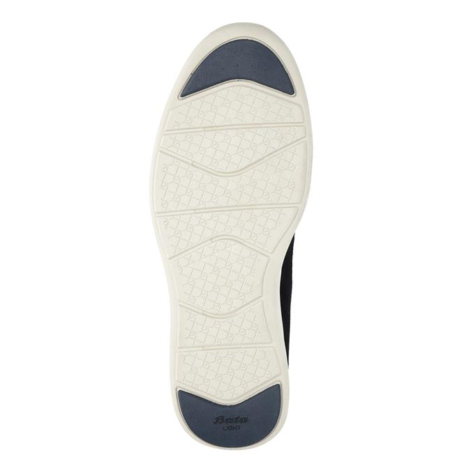 Pánske kožené tenisky bata-light, modrá, 844-9161 - 19