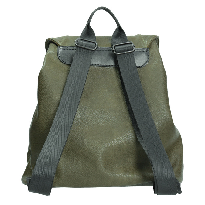 Dámsky zelený batoh bata, 961-7833 - 16