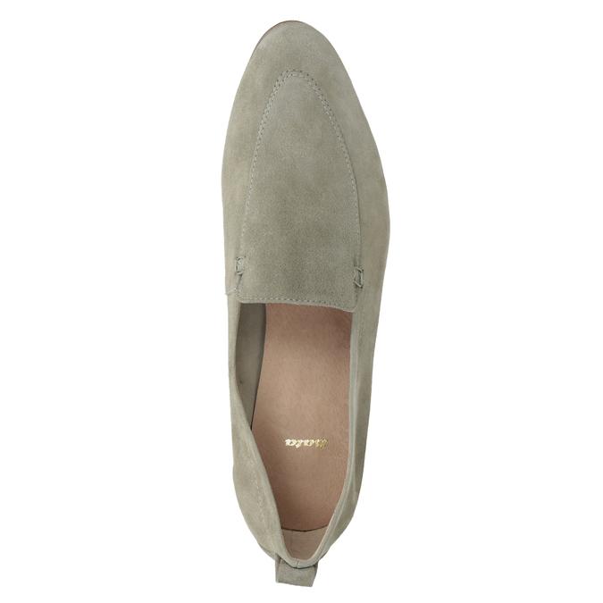 Dámske mokasíny z brúsenej kože bata, béžová, 516-8618 - 17