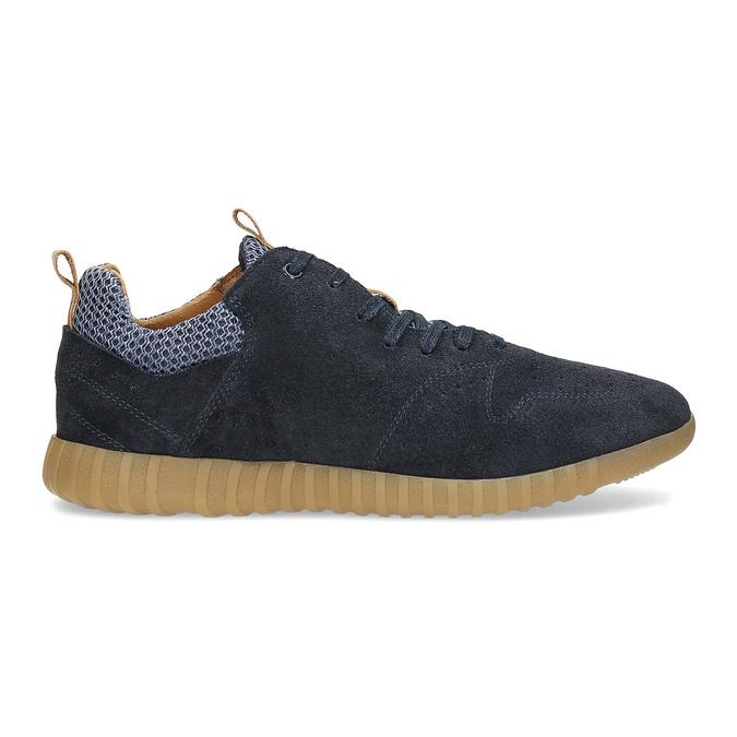 Modré pánske tenisky z brúsenej kože bata, 843-9634 - 19