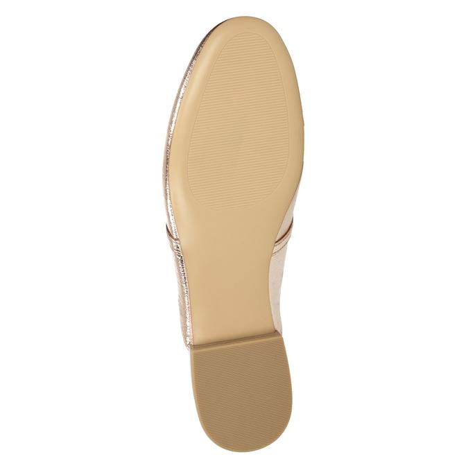 Dámske nazouváky s prackou bata, zlatá, 511-8609 - 17