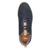 Modré pánske tenisky z brúsenej kože bata, 843-9634 - 17