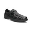 Pánske kožené sandále v elegantnom dizajne pinosos, čierna, 864-6625 - 13
