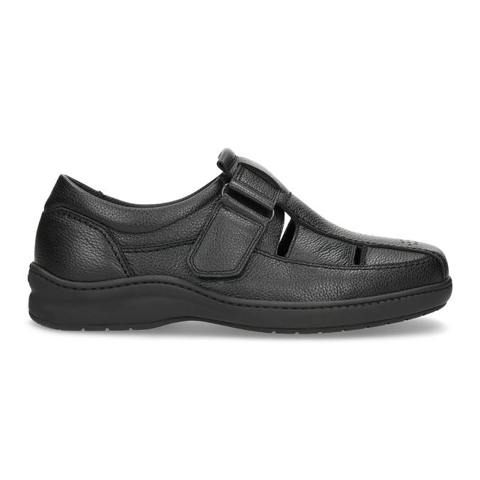 Pánske sandále z kože pinosos, čierna, 864-6626 - 19