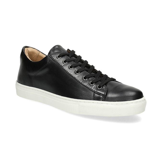 Pánske kožené tenisky bata, čierna, 844-6648 - 13