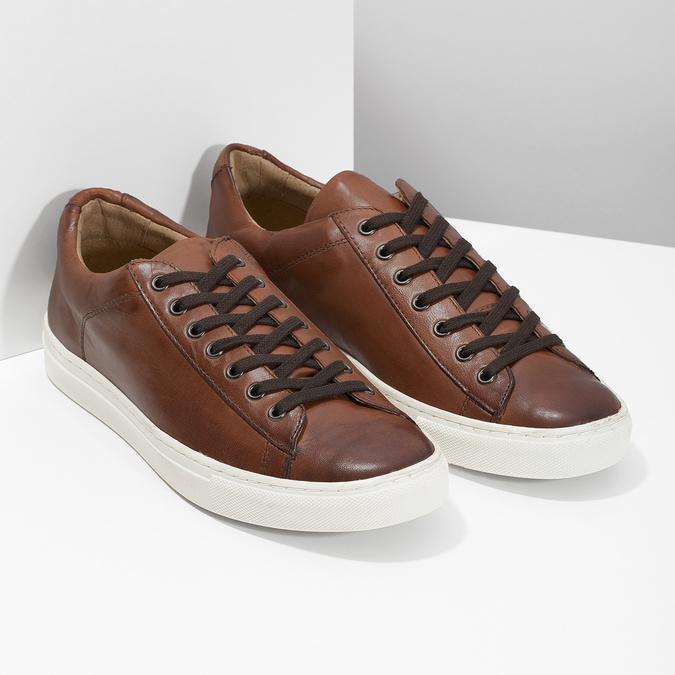 Kožené pánske tenisky bata, hnedá, 846-4648 - 26