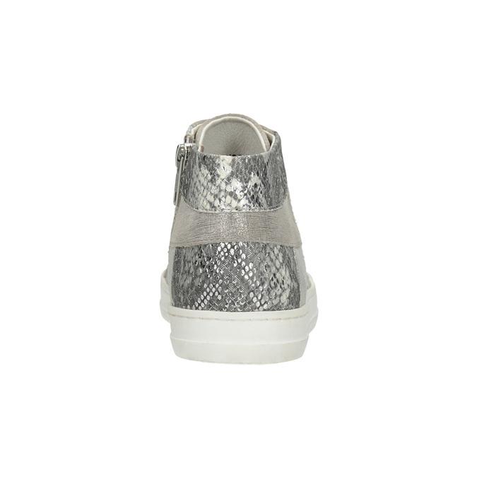 Členkové kožené tenisky bata, šedá, 546-2608 - 16