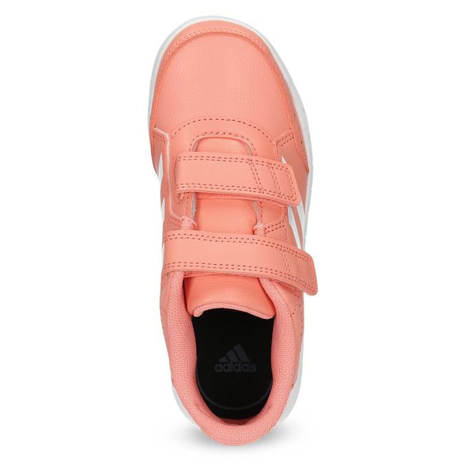 Detské tenisky v lososovej farbe adidas, ružová, 301-5151 - 17