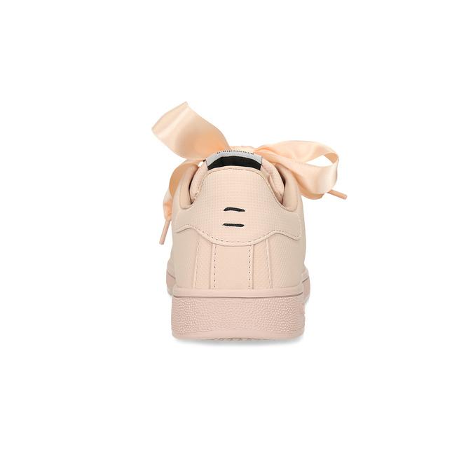 Ružové tenisky so saténovou mašľou pepe-jeans, ružová, 541-5076 - 15