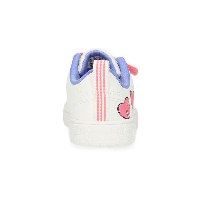Detské biele tenisky so srdiečkami adidas, biela, 101-1129 - 15