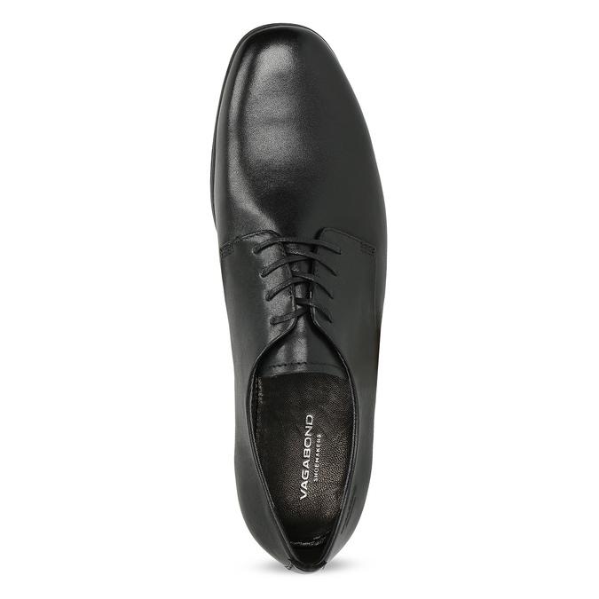 Kožené čierne dámske poltopánky vagabond, čierna, 524-6039 - 17