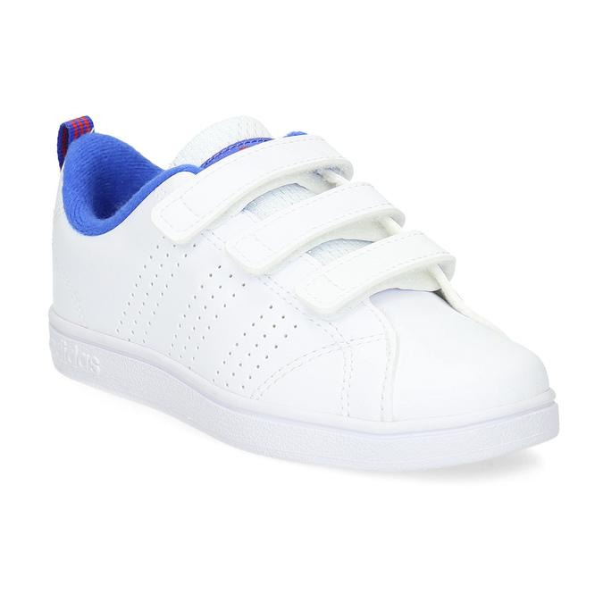 Biele detské tenisky na suchý zips adidas, biela, 301-1968 - 13