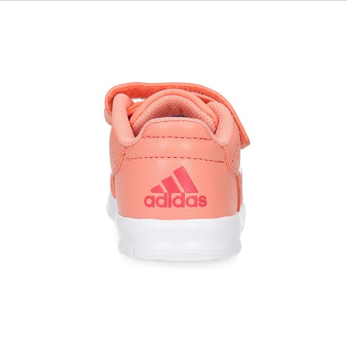 Dievčenské ružové tenisky na suchý zips adidas, ružová, 101-5151 - 15