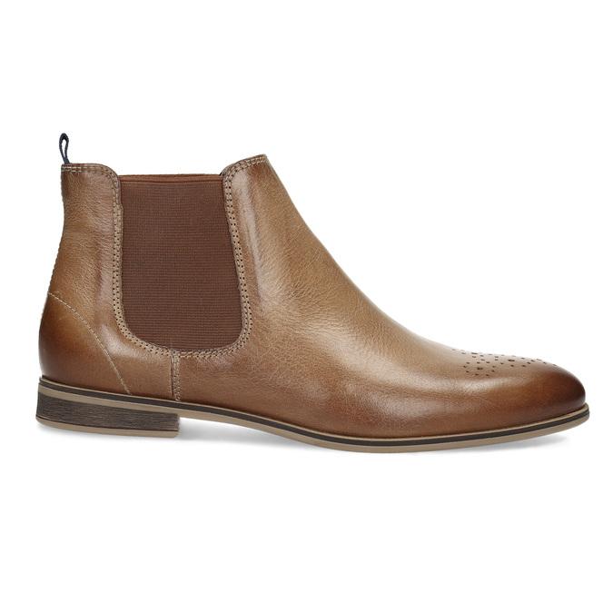 Dámska kožená Chelsea obuv bata, hnedá, 596-3684 - 19