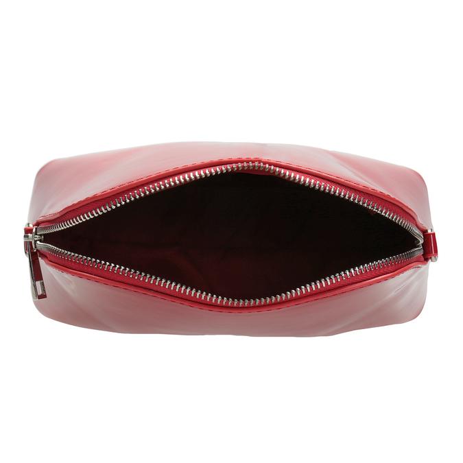 Červená lakovaná kabelka bata, červená, 961-5850 - 15