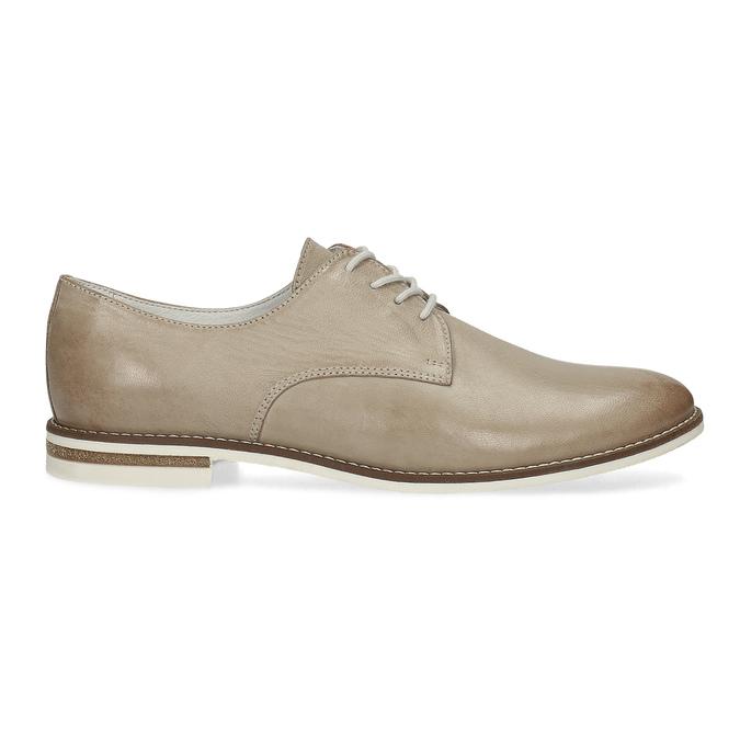 Kožené dámske poltopánky bata, béžová, 526-8650 - 19
